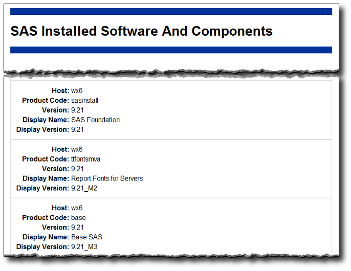 Reviewing Installed SAS 9.2 Software and Hotfixes
