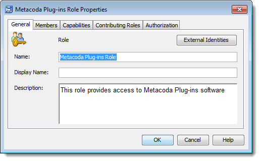 Creating a new Metacoda Plug-ins Role for role-based access to Metacoda Plug-ins