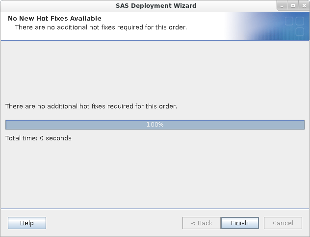 SAS Deployment Wizard: Downloading Hot Fixes
