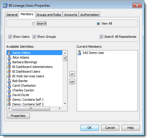 Creating a SAS BI Lineage Users Group