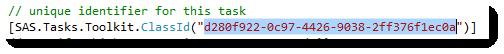 Custom Task ClassId as seen in source code