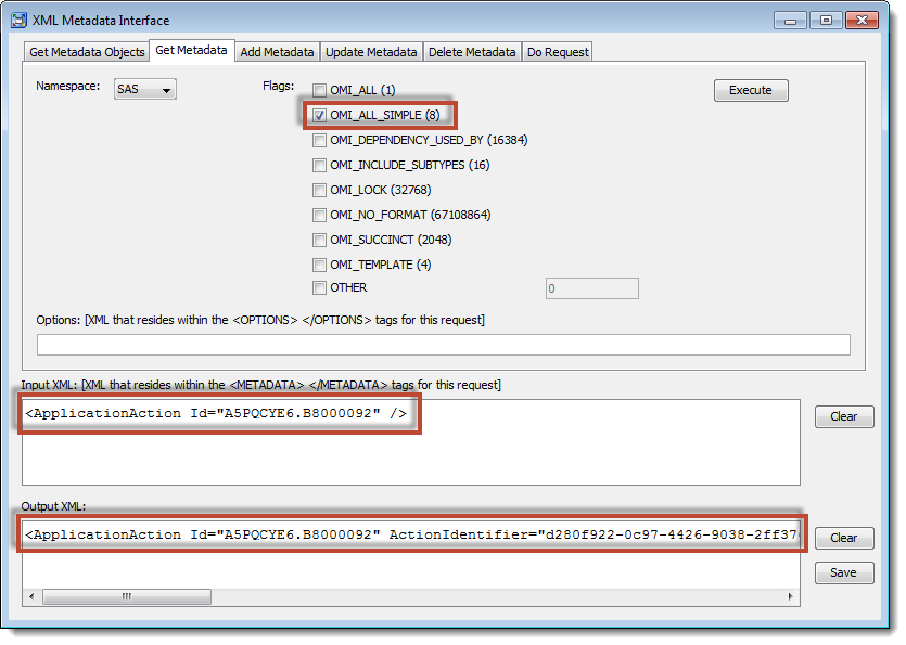 SAS Management Console XML Metadata Interface: Using GetMetadata to fetch capability metadata