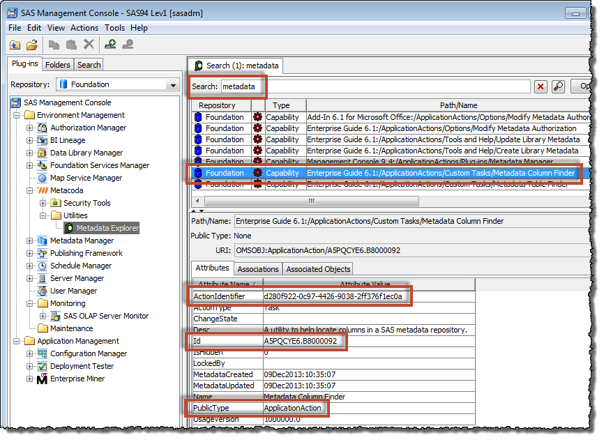 Metacoda Metadata Explorer Plug-in: searching for capability metadata