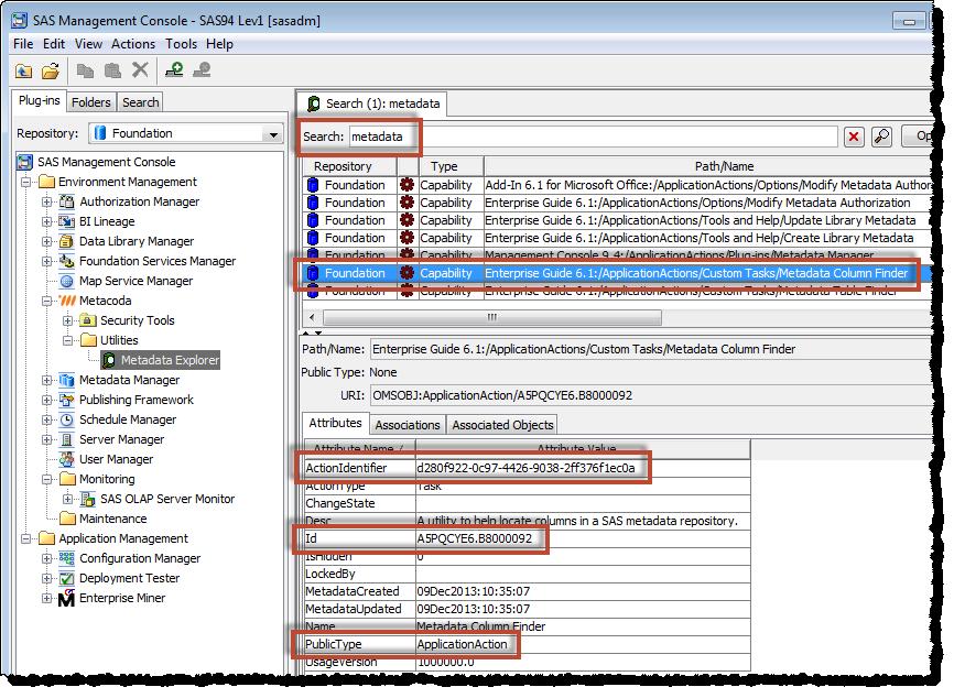 Metacoda Metadata Explorer Plug-in: searching for capability metadata