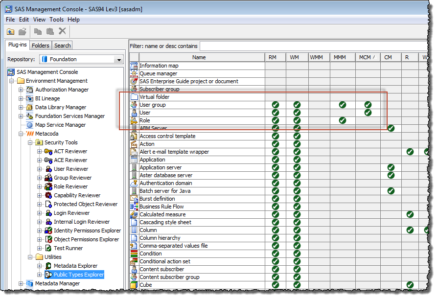 New MCM and MMM permissions in SAS 9.4 M2