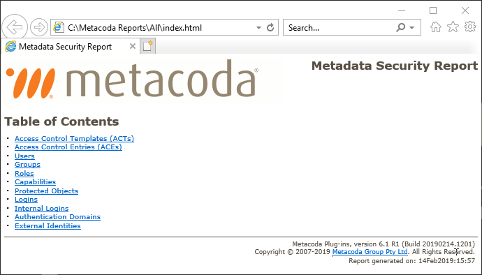Metacoda Plug-in 6.1 HTML Export
