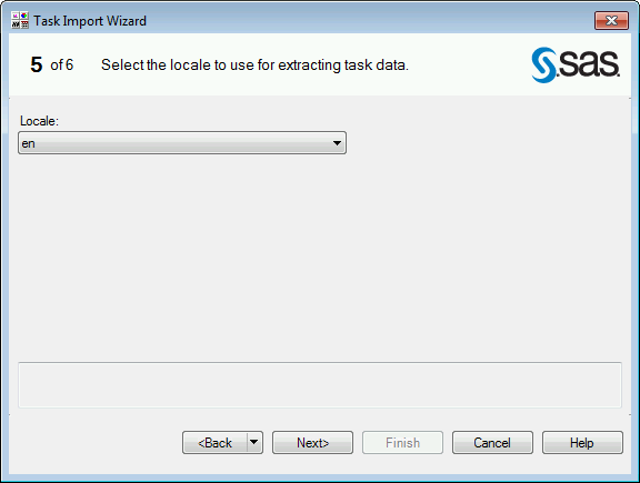 SAS Enterprise Guide Explorer Task Import Wizard Page 5